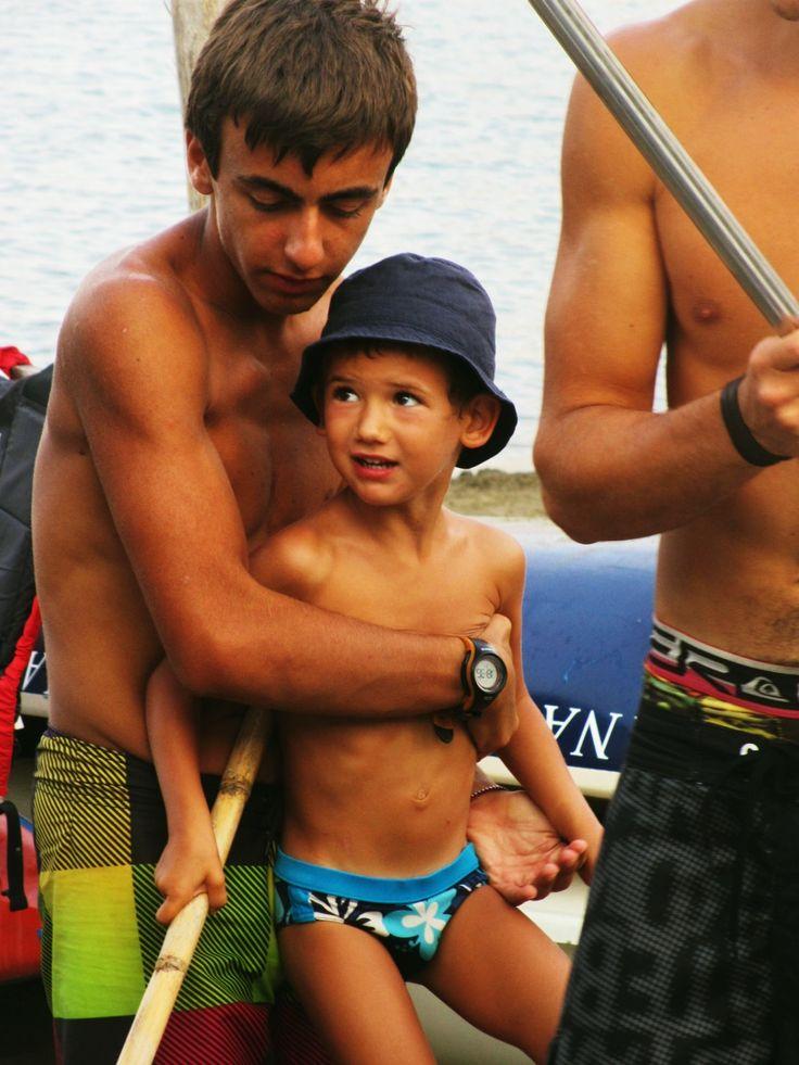 Francesco e Lorenzo in #mare. #leganavale #Ventotene #corsi