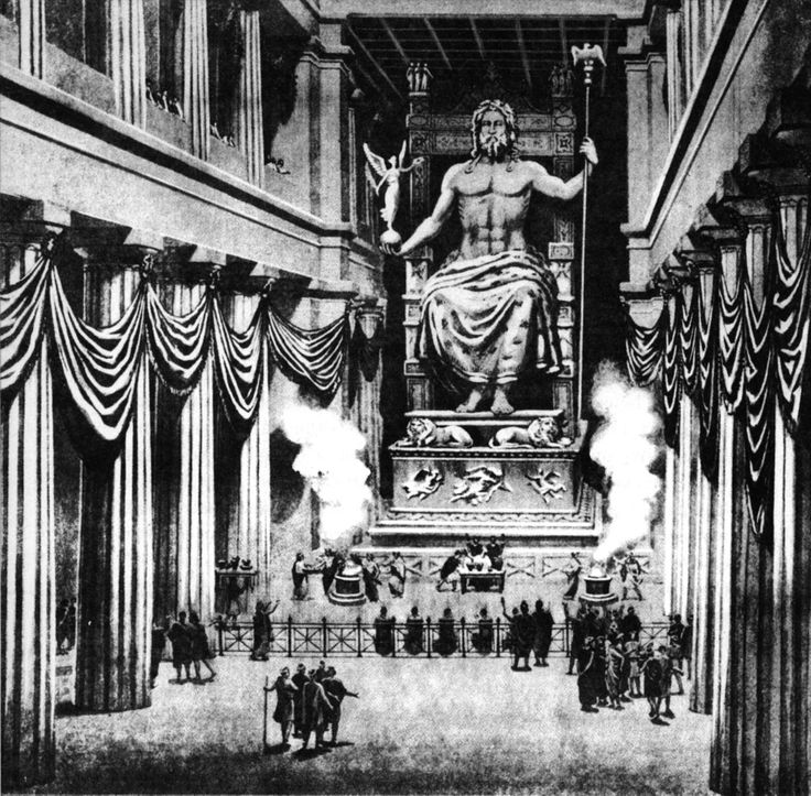The statue of Zeus sat in the temple at Olympia and presided over the Olympic Games until 392 AD, when the Christian Emperor of Rome, Theodosius I, abolished the Games as he considered them pagan. It is not known for certain what happened to the statue. In 426 AD Theodosius I ordered all temples to be  destroyed, so it may have perished then. Some records suggest that a Greek named Lausus took it to Constantinople where it was eventually destroyed in a huge fire that swept the city in 475…