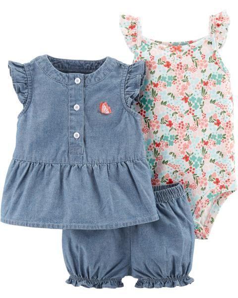 Baby Girl 3-Piece Floral Little Short Set  348e1c265a3