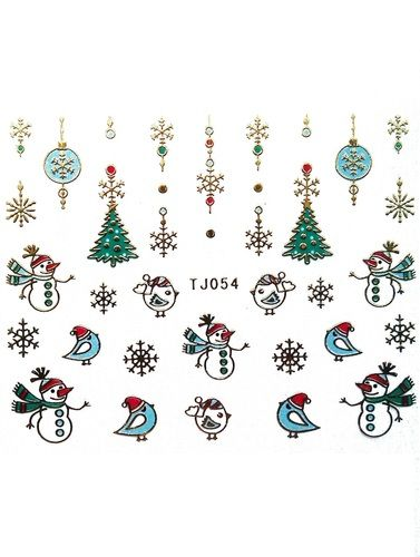 Christmas nail stickers ONLY £1 http://www.charliesnailart.co.uk/christmas-nail-stickers/