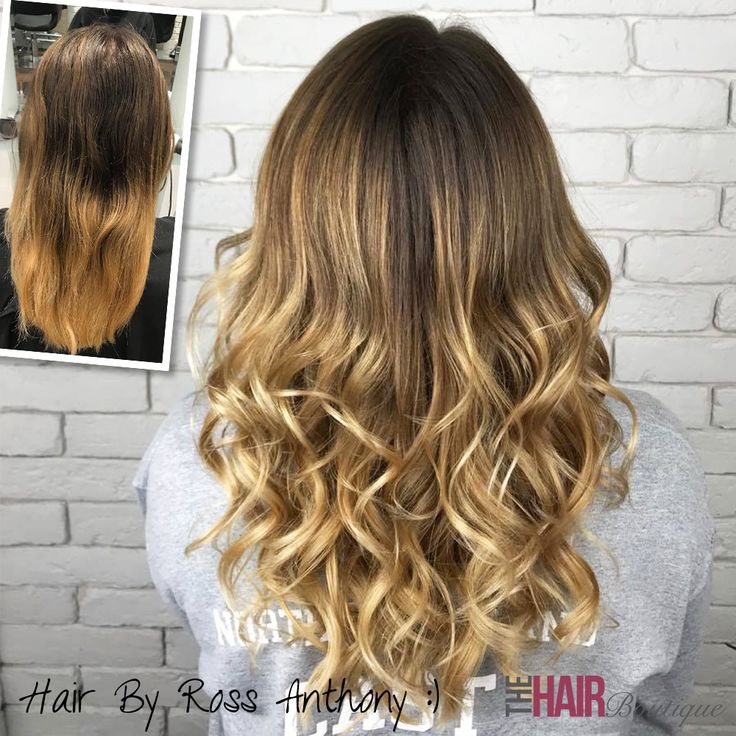 A lovely honey blonde Balayage hair colour by Ross Anthony!