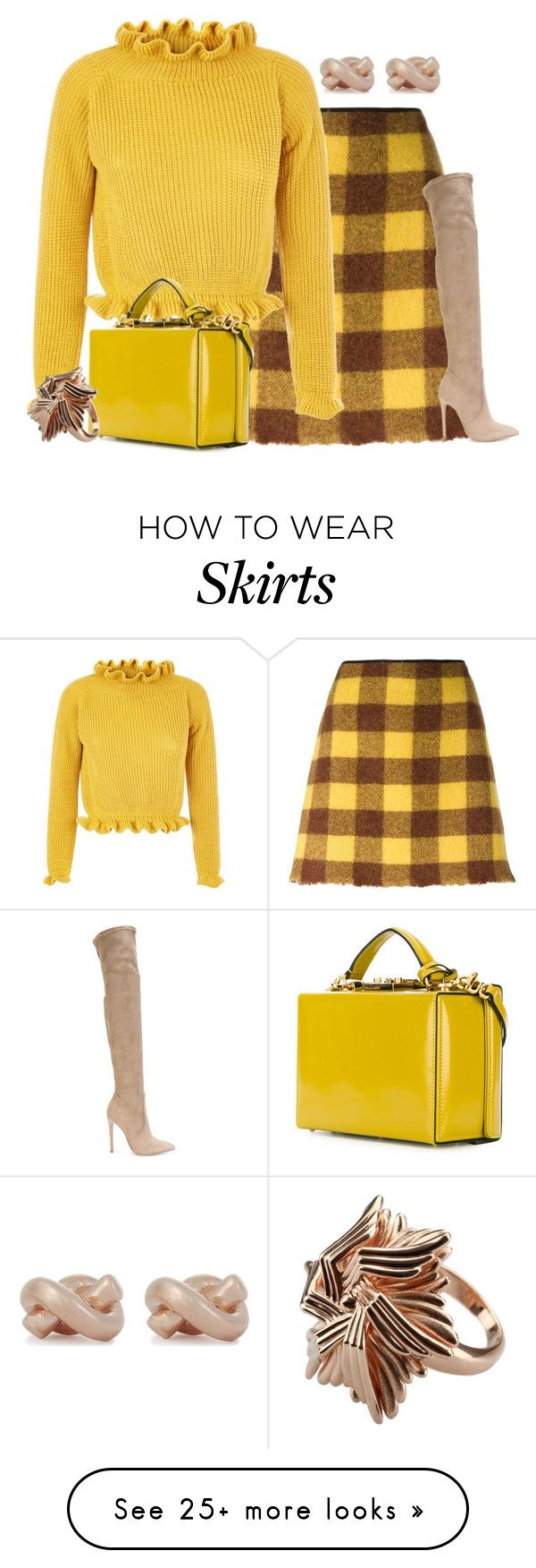 """""""Wool skirt"""" by borntoread on Polyvore featuring N°21, Gianni Renzi, Mark Cross and Kate Spade"""