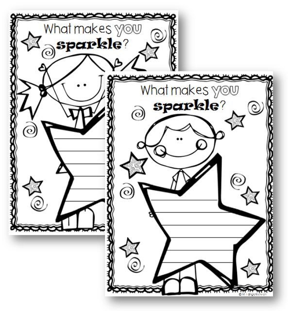 Use these FREE worksheets to help students to acknowledge what makes them 'sparkle' - Learning with Sunflower Smiles