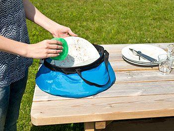 Semptec Urban Survival Technology Faltbarer Eimer für Outdoor und Camping, Nylon, 10 Liter Semptec Urban Survival Technology Falteimer
