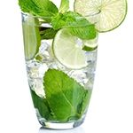 Mojito                                                                             Ingredients      1 Tablespoon mint leaves (6-8 each)     1 Tablespoon fresh lime juice     1 1/2 Teaspoons granular sugar substitute (Truvia)     1 Ounce rum     4 Ounces club soda or selzer     4 ice cubes