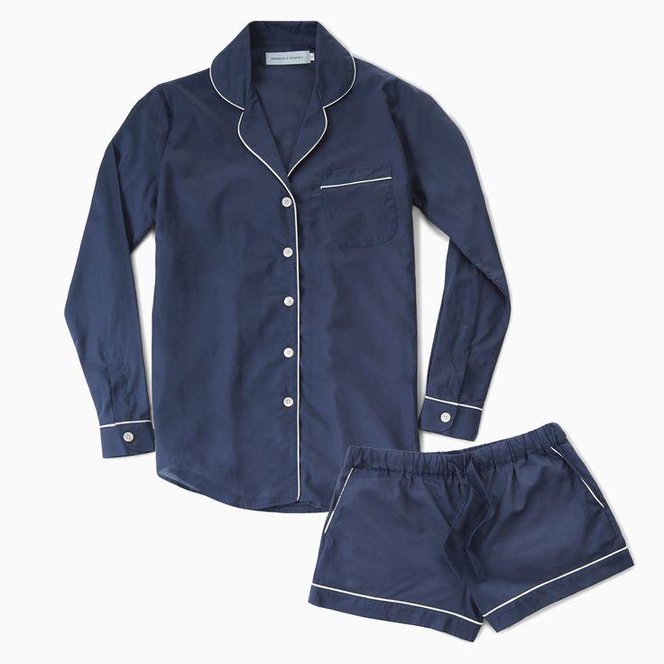 Women's Cotton PJ Set | Navy | Desmond & Dempsey