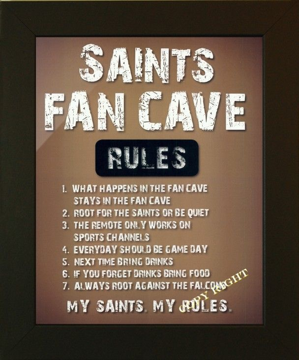 Man Cave Signs Sports : Sports man cave signs saints decor here comes