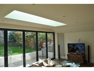 rear house extension with roof lantern