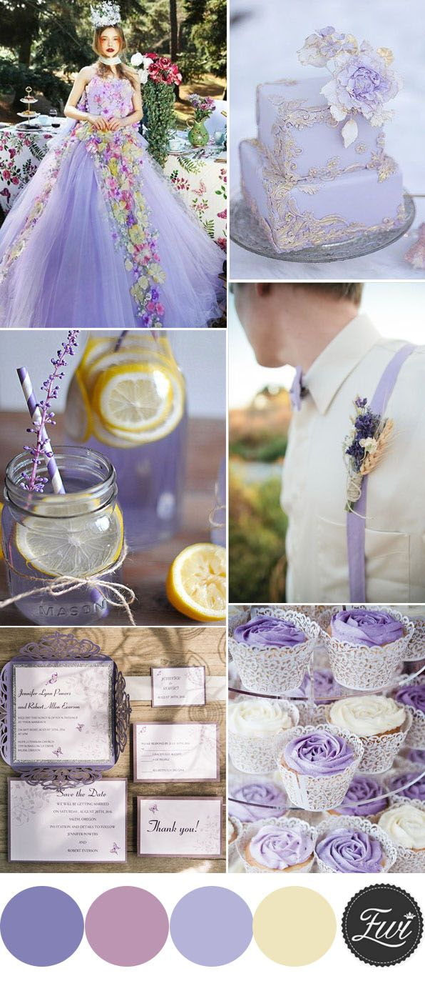 charming lavender spring and summer wedding colors ideas