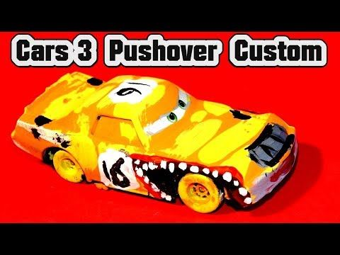 6c08d6bf622 Disney Pixar Cars 3 Lightning McQueen Custom Diecast Pushover Demolition  Derby Cars Learn Colors - YouTube