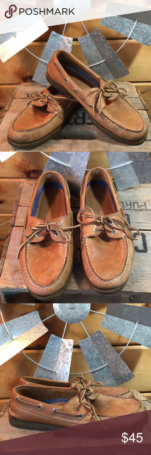 Men's Sperry Top Sider Preloved Sperry boat shoes in very good condition with normal wear. Size 8.5 Sperry Top-Sider Shoes Boat Shoes