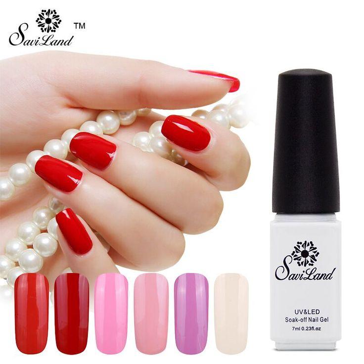 Saviland New Fashion Pure Colors Gel Nail Polish Top And Base UV LED Color Bright Simple Nail Finger Nail Gel Polish