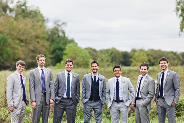 groomsmen in gray | Flora and Fauna #wedding