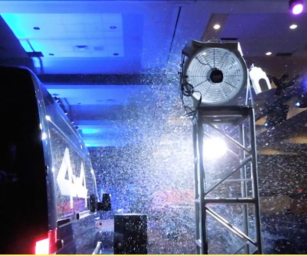 a T 1500 snow machine rental for a industrial show