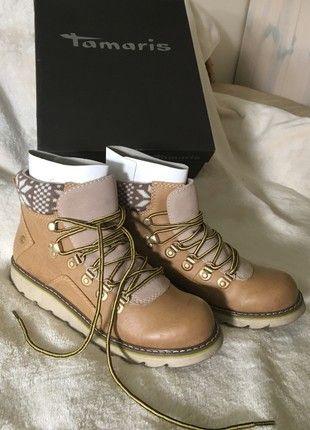 Kaufe meinen Artikel bei #Kleiderkreisel http://www.kleiderkreisel.de/damenschuhe/stiefelette/161217310-tamaris-winterstiefel-winter-boots-leder-camel-neu-38