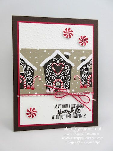 My 2016 Christmas card made with Candy Cane Lane designer Paper and Christmas Pines stamp set…#stampyourartout - Stampin' Up!® - Stamp Your Art Out! www.stampyourartout.com