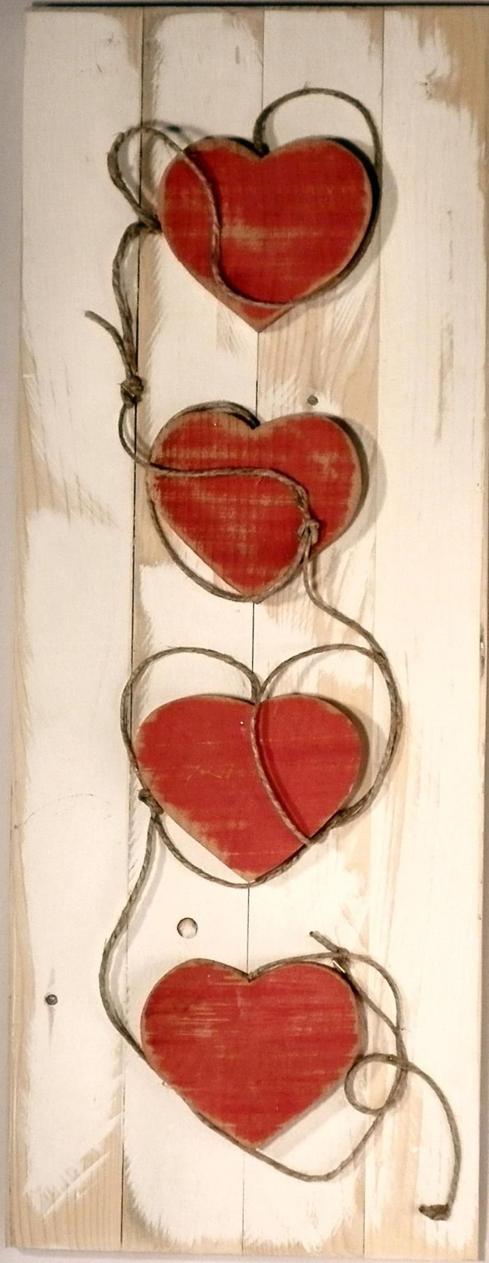 ~ wooden red hearts ...