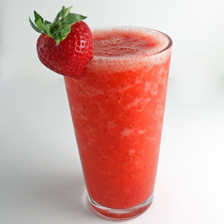 "Strawberry Lemon Smoothie  Ingredients:  1 handful of strawberries, stems cut off  Juice of 1/2 of a lemon  1-2 handfuls of ice (about 3/4 cup)  water (about 3/4 cup)  2 packets of Truvia or sweetener of your choice  ""It's easy to make & tastes like a frozen strawberry lemonade!""--MostBabealish"