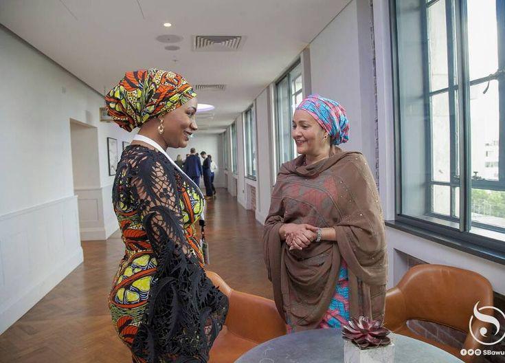 Samira Bawumia with Amina J. Mohammed