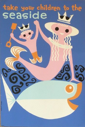 Daphne Padden take your children to the seaside poster