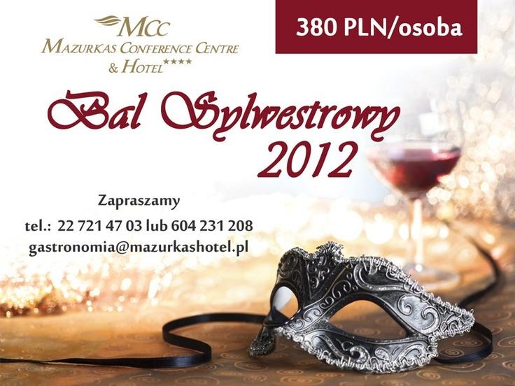 Mazurkas Conference & Hotel zaprasza na wspaniały Bal Sylwestrowy. Na gości czeka noc pełna niespodzianek, już od samego początku, na dobry początek zabawy, każdy uczestnik zostanie przywitany specjalnym koktailem. Później będzie coraz lepiej, w kulminacyjnym momencie zabawy, (tj. powitanie nowego roku) na salę zostanie wniesiony specjalny tort noworoczny na tyle duży, aby dla nikogo nie zabrakło! Zabawa zostanie poprowadzona przez zespół Bala Bank przy akompaniamencie profesjonalnego DJ'a