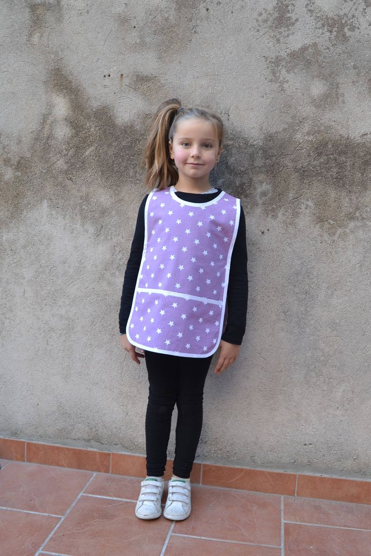 Kids Art Smock 4-6 Years 100% Cotton Purple with White Stars Childrens Painting Apron Tablier Maternelle Ecolier Ecole Filles Graçon by FrenchStarKids on Etsy