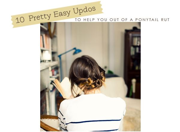 10 Pretty, Easy Updos to help you out of the ponytail rut | Hellobee: Hair Ideas, Hairstyles, Hair Tutorials, Beautiful, Twists Buns, Cute Hair, Hair Style, Stripes, Knot