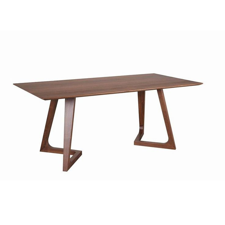 Aurelle Home Solid American Walnut (Brown) Craftsman Dining Table Rectangular (Dining Table)