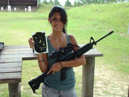 Girls butts and guns girls