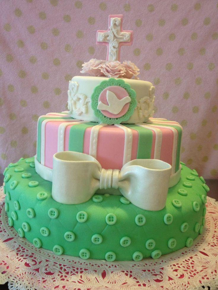 Decoración de pastel para bautizo!!!