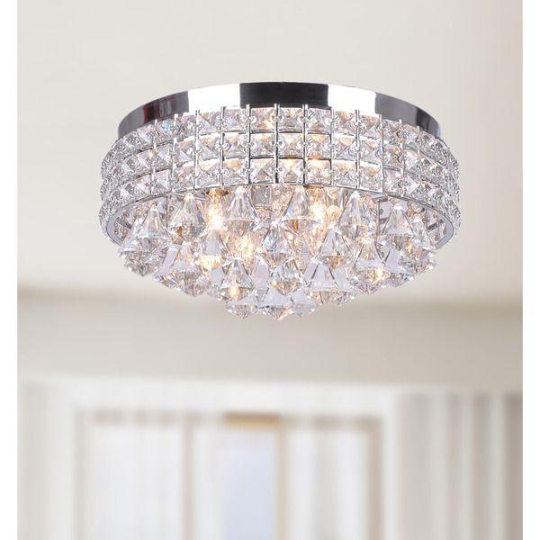 Antonia Ornate Crystal Flush Mount Chandelier In Chrome 16129500 Ping