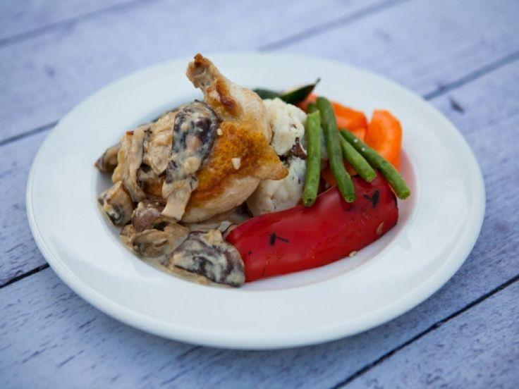 Chicken Marsala -  Pan roasted chicken topped with a mushroom marsala sauce.