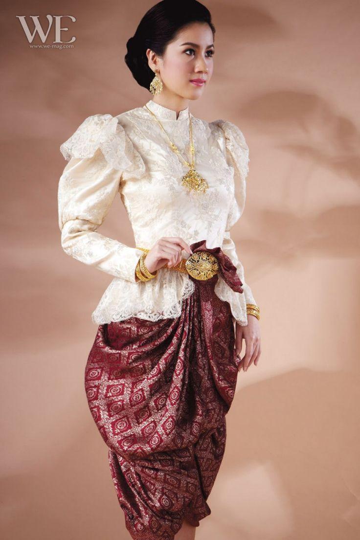 29 best thai traditional dress images on pinterest thai for Thai style wedding dress