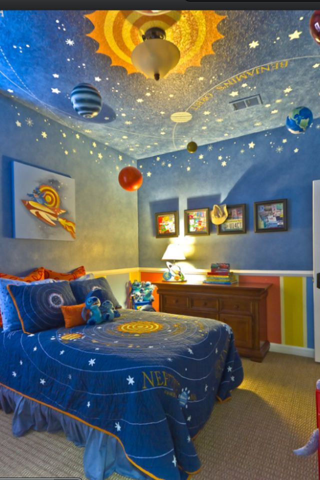 Great kids room idea for boys.