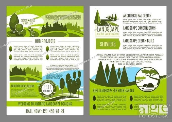 Landscape Design Company Business Brochure Template 1000 Landscape Design Business Brochure Business Design