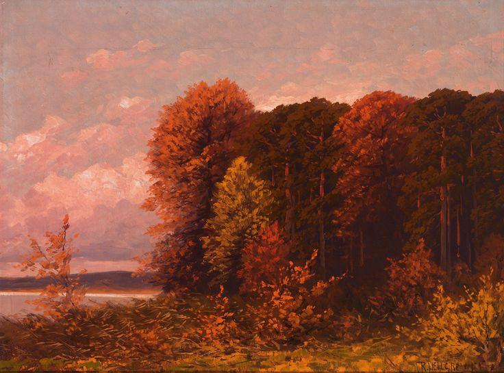 Rudolf Hellgrewe. 1860 Hammerstein (Westpreußen) - 1935 Berlin. Sign. Abendliche Landschaft um Berlin. Öl/Lwd. auf Holz. 60 x 80 cm. R Ausrufpreis: 200 Euro