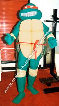 ninja turtle costume idea -- full head, sculpted
