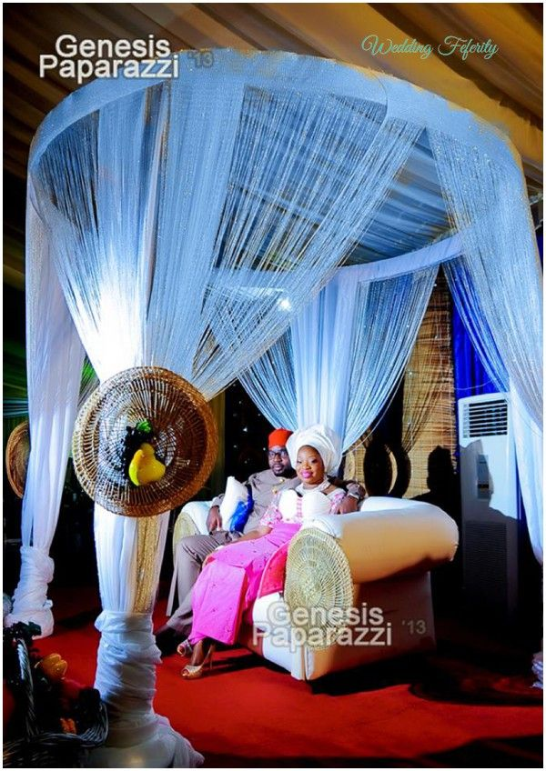 Nigerian Wedding Decor Traditional and White
