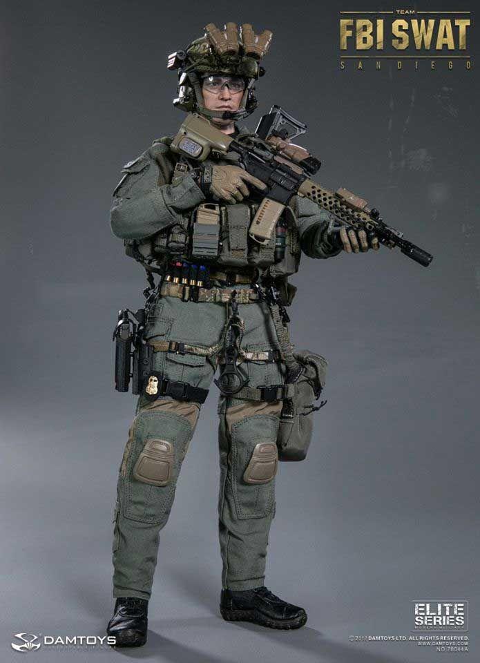 "FBI SWAT Team Agent San Diego ""A"" 1/6 Scale Figure by DamToys"