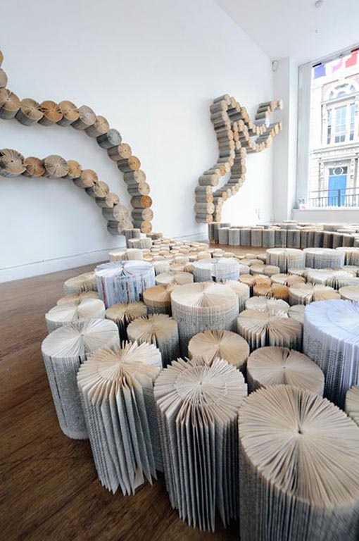 Yvette Hawkins creates large-scale book art installations
