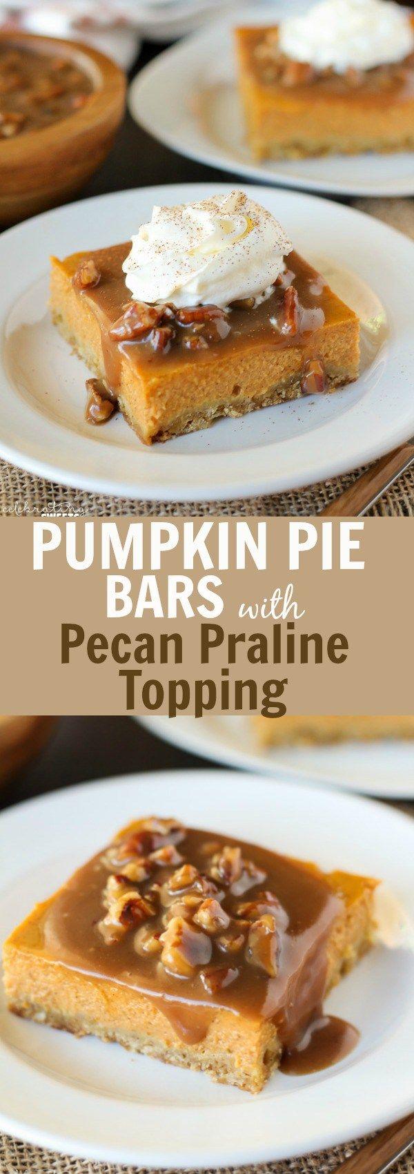 ... pumpkin pie with praline coconut pecan crust from gluten free goddess