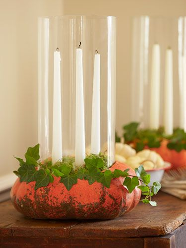 Make a candle decoration out of your pumpkin