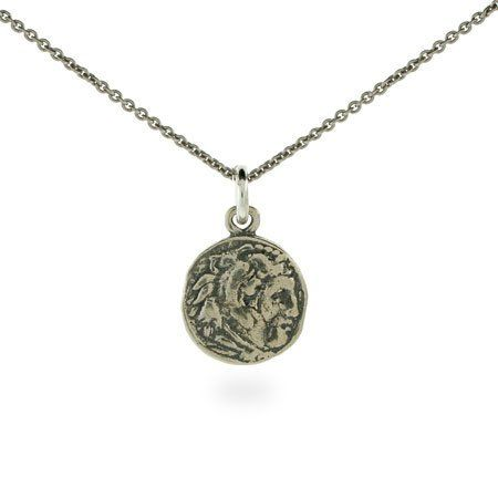 Ancient Greek sterling silver coin necklace