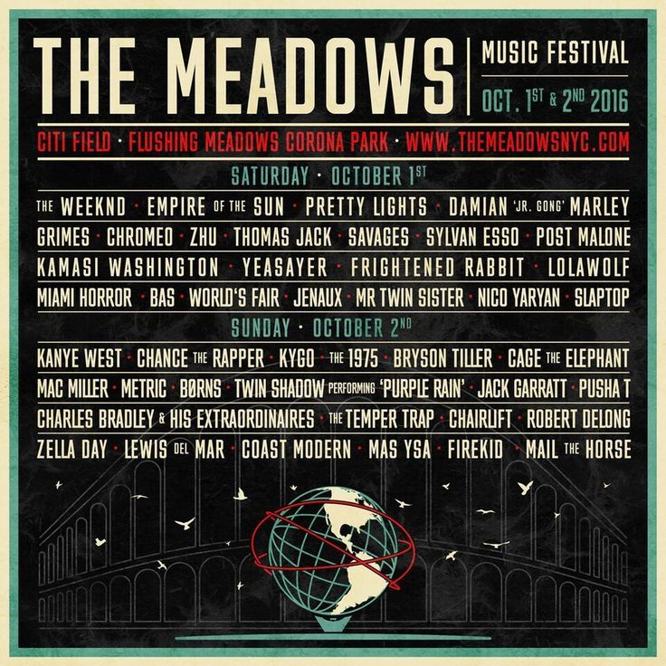 The Meadows Music Festival Oct.1/2 Two-Day GA