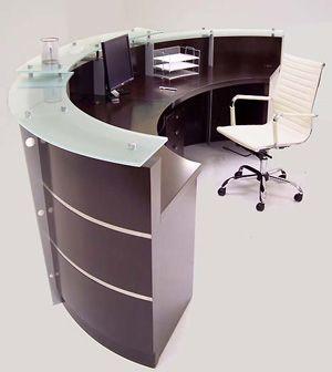 back of reception desk