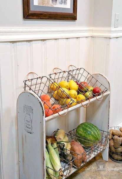 blanket rack to farmhouse vegetable stand, crafts, diy, gardening, kitchen cabinets, painted furniture
