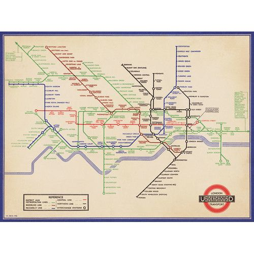 Found it at Wayfair.co.uk - Vintage 1936 London Underground Map Graphic Art