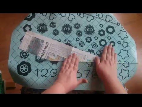Kosárfonás papírból: A papírcsövek tekerése