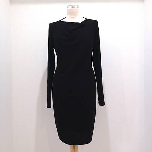 LuxuryCouture / Vlnené šaty čierne