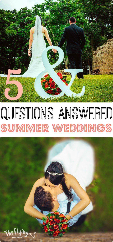 5 vragen beantwoord over Summer Weddings